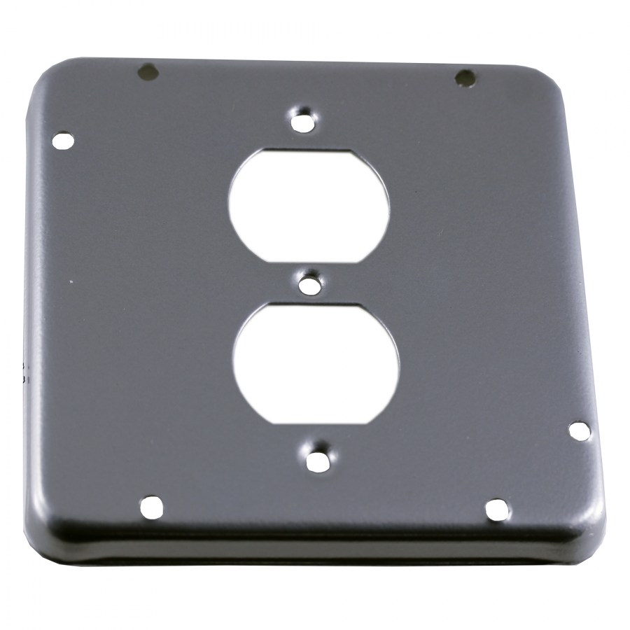 "4-11/16"" Square Covers, 1 Duplex Receptacle"