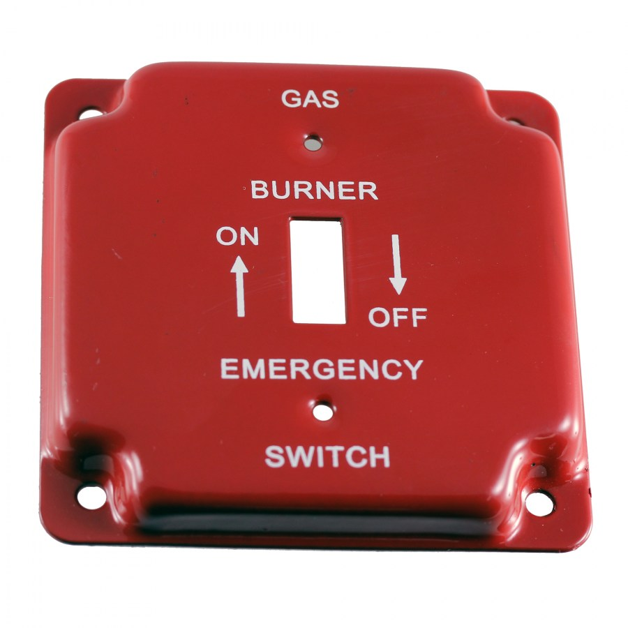"4"" Gas Wall Plate, Utility"
