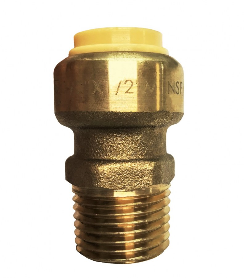 "1/2"" Sharkbite Style Push-Fit x Male Thread Adapter"