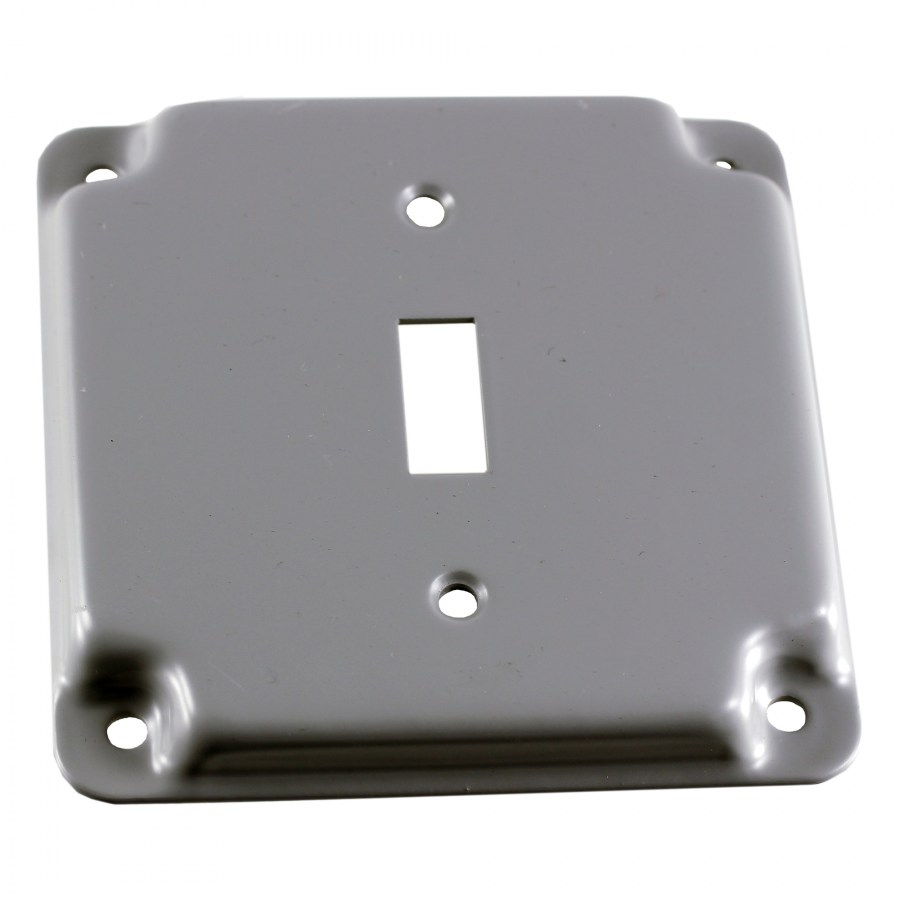 "4""Square Surface Covers Raised 1/2"", 1 Toggle Switch"