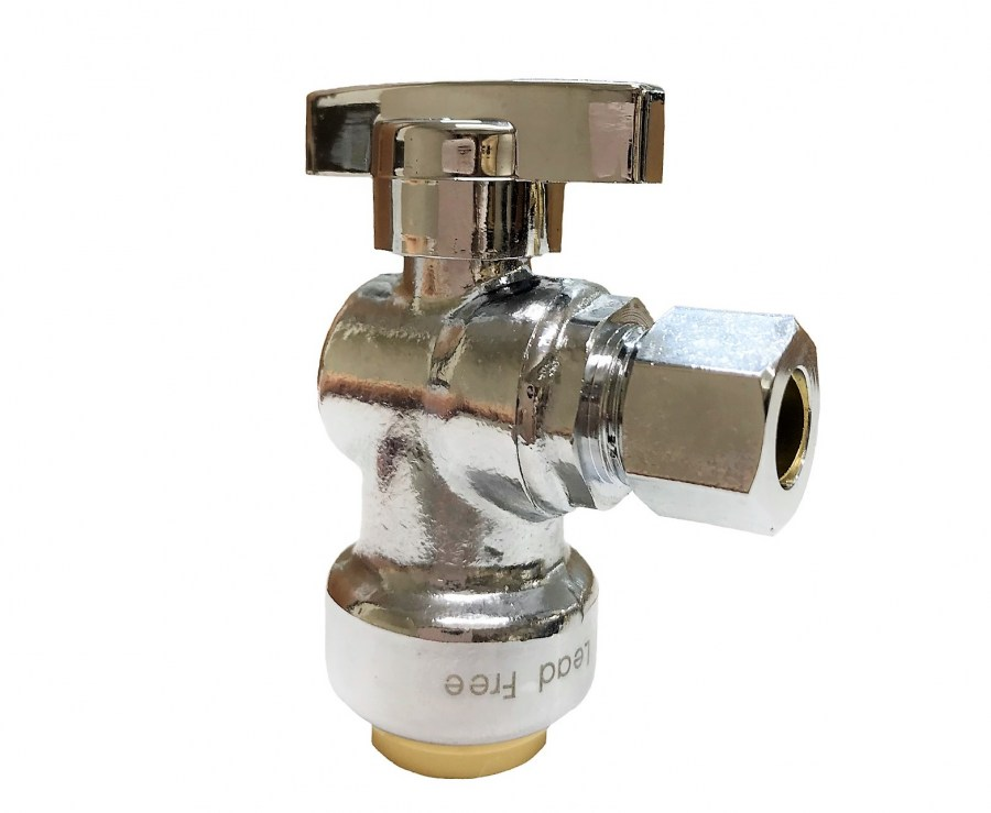"1/2"" x 3/8"" Sharkbite Style Push-Fit 1/4"" Turn Valve"