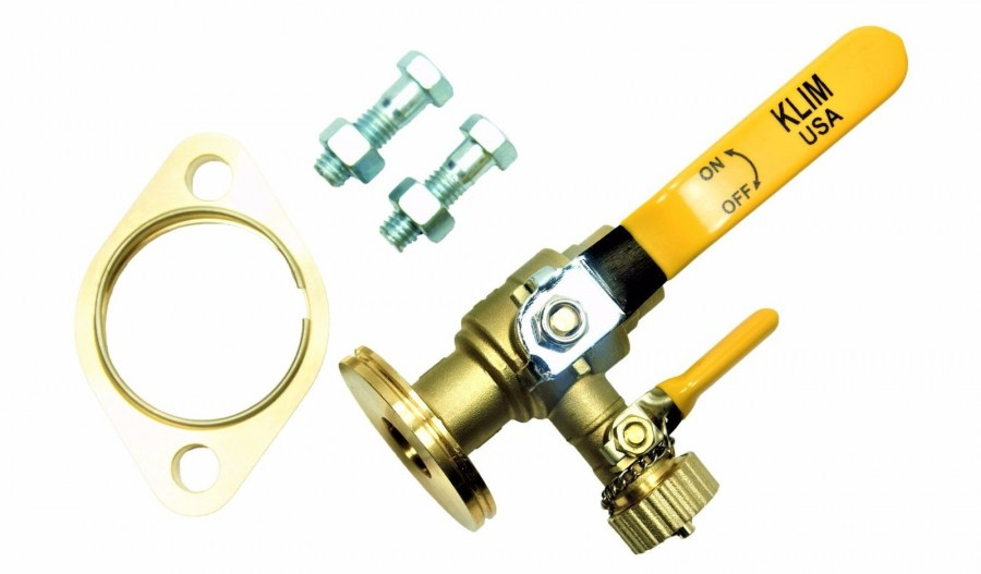 Brass Flange Ball Valve with Purge (Flange x Solder) Swivel